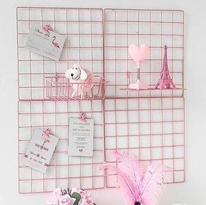 Wall hanging decorative pink Rack